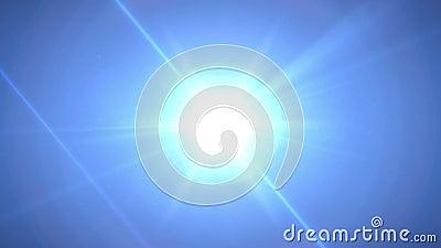 4K lensgloed die zich van tot centrum bewegen die het effect van de gloedster vertegenwoordigen Grafische animatieachtergrond en  stock video