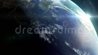 4K Loop - Planet Earth rotation - 360 degrees - day to night.  royalty free illustration