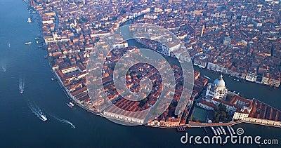 4K Nagranie z Sunrise View na plac San Marco, City Center of Wenecja, Włochy zdjęcie wideo