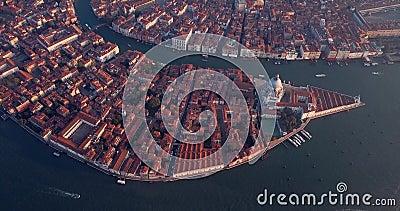 4K Nagranie z Sunrise View na plac San Marco, City Center of Wenecja, Włochy zbiory