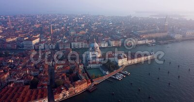 4K Nagranie z Sunrise View na plac San Marco, City Center of Wenecja, Włochy zbiory wideo