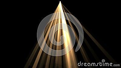 4k Ray sceny Oświetleniowy tło, napromienianie laserowa energia, tunelowa przejście linia zdjęcie wideo