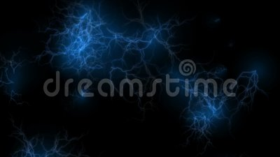 4k relâmpago atual abstrato, energia magnética do poder, fogos-de-artifício das partículas dos íons vídeos de arquivo