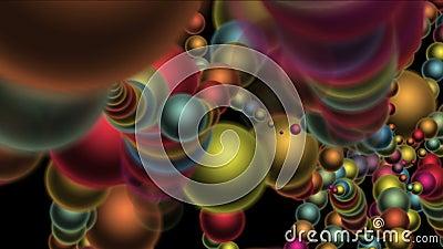 4k soustraient le fond de boules de sphère en métal de la biologie 3d, spores fendues de ver de bactéries illustration libre de droits
