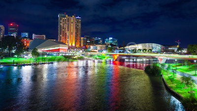 4k timelapse βίντεο του περιβόλου Riverbank στην Αδελαΐδα, Αυστραλία φιλμ μικρού μήκους