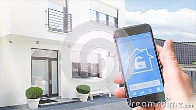 4k - Ultra HD - maison futée, homeautomation avec le téléphone portable