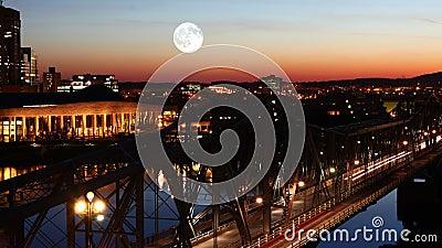 4K UltraHD księżyc w pełni nad Ottawa zdjęcie wideo