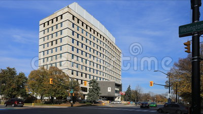 4K UltraHD Timelapse здание муниципалитета в Лондоне, Канаде сток-видео