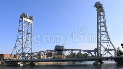 4K UltraHD Timelapse av den Main Street bron i Welland, Kanada stock video