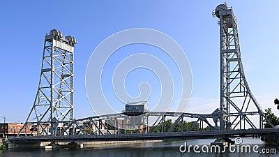 4K UltraHD Timelapse da ponte de Main Street em Welland, Canadá video estoque