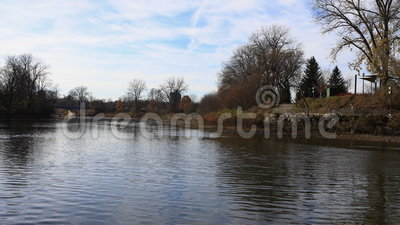 4K UltraHD Timelapse of Thames River in London, Canada. 4K UltraHD A Timelapse of Thames River in London, Canada stock footage