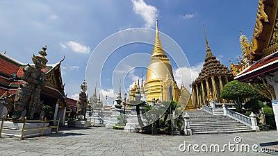 4K upływ Wat Phra Kaew i Uroczysty pałac (żadny ludzie) zbiory wideo