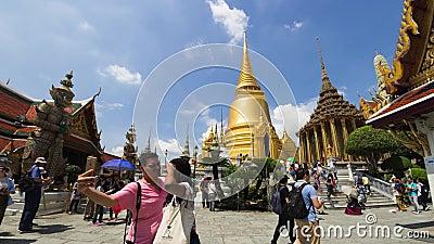 4K upływ Wat Phra Kaew i Uroczysty pałac zbiory