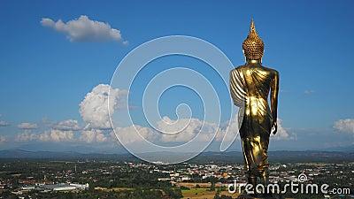 4K upływu materiał filmowy Wat Phra Ten Kao Noi zbiory