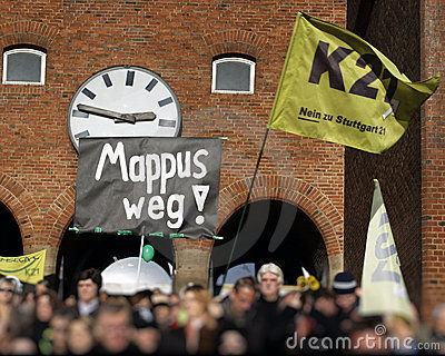 K21 demonstration - Stuttgart Editorial Photo