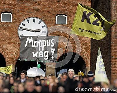 K21 demonstration - Stuttgart Editorial Photo
