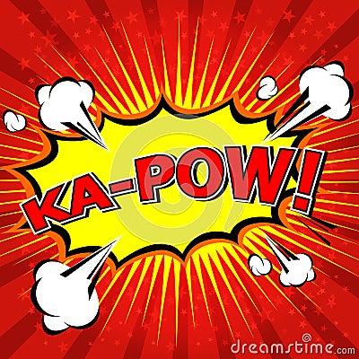 Free Ka-Pow! Comic Speech Bubble, Cartoon Royalty Free Stock Photo - 42808555