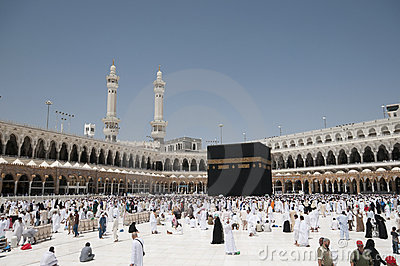 Kaaba in Makkah, Kingdom of Saudi Arabia. Editorial Stock Photo