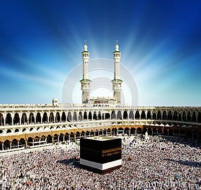 Kaaba Mekka Saudi-Arabië.