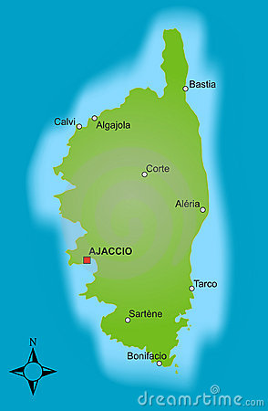 Kaart Corsica