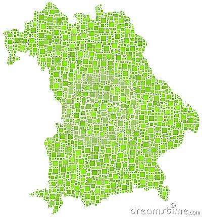 Kaart van Beieren - het Duits -