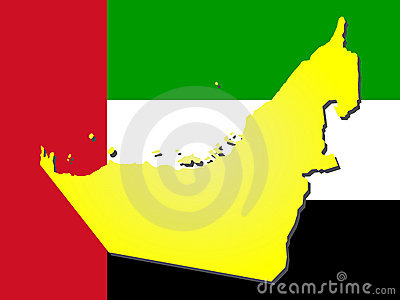 Kaart van verenigde arabische emiraten royalty vrije stock foto s