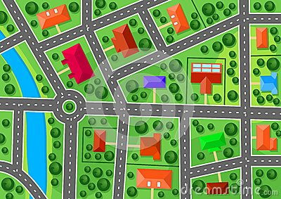 Kaart van voorstad
