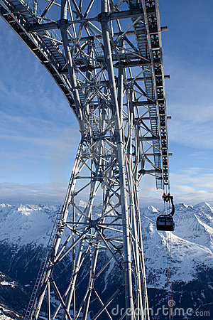 Kabelbaan in alpen