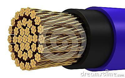 Kablowy miedziany elektryczny