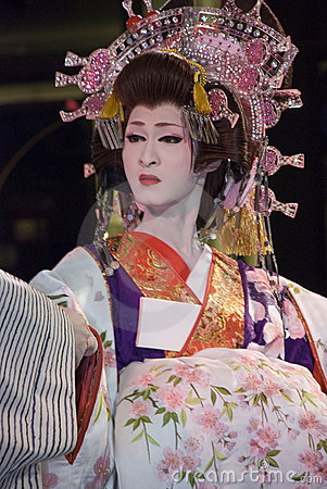 Kabuki performer Editorial Stock Image