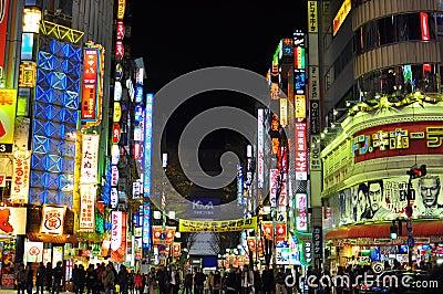 日本kabukicho shinjuku 图库摄影片