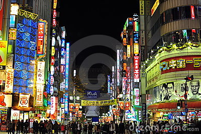 Kabukicho, shinjuku, japão Fotografia Editorial