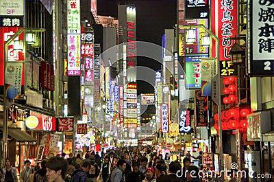 Kabukicho, Tóquio Imagem Editorial