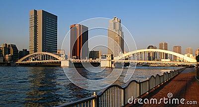 Kachidoki Bridge, Tokyo, Japan