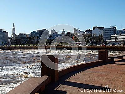 Kade van stad Montevideo