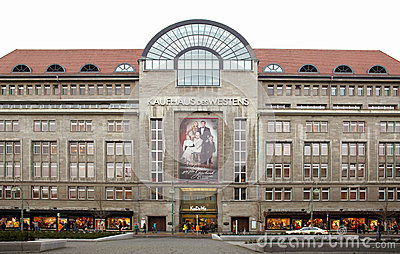 Kadewe shopping mall exterior in Berlin Editorial Image