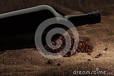 Kaffee mit alkoholischem Getränk