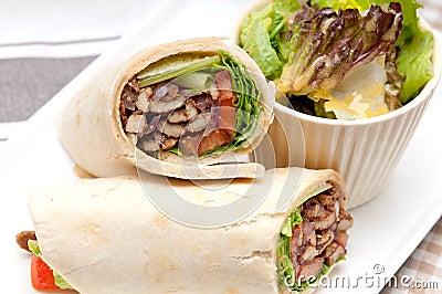 Chicken shawarma roll - photo#26