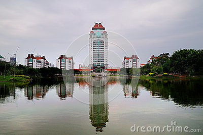 Kah Kee building complex in Xiamen University Editorial Photography