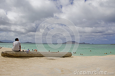 Kailua Beach Editorial Stock Photo