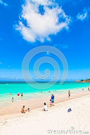 Kailua Beach in Oahu, Hawaii Editorial Photography