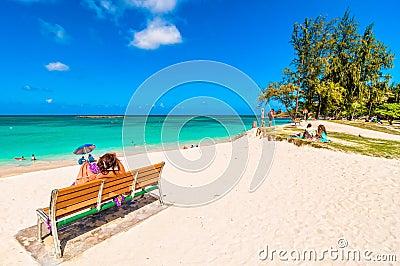 Kailua Beach in Oahu, Hawaii Editorial Stock Photo