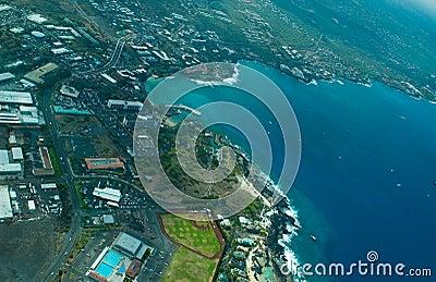 Kailua-Kona, Big Island aerial shot