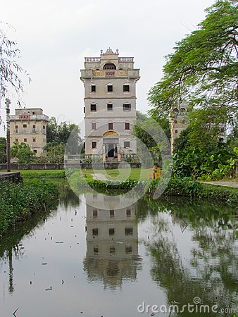 Free Kaiping Diaolou Watchtower In Chikan Unesco World Heritage Site Royalty Free Stock Photography - 103692137