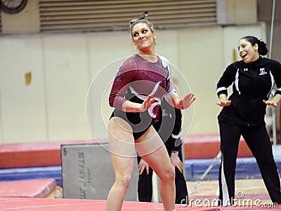 Kaity Watson - NCAA female gymnast Editorial Stock Photo