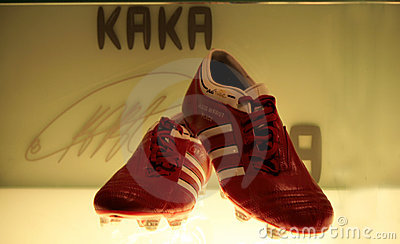 Kaka s shoes Editorial Stock Image