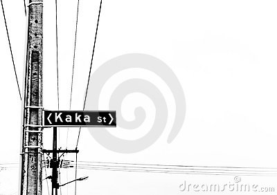 Kaka street sign on the pole