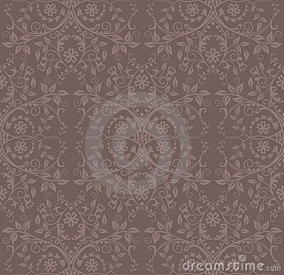 Kakaowa kwiecista bezszwowa tapeta
