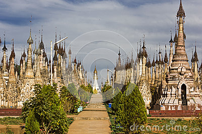 Kakku Temples, Myanmar Editorial Stock Photo