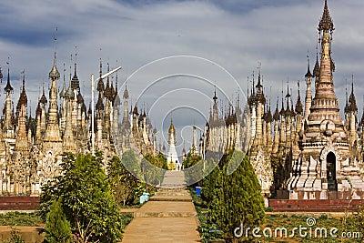 Kakku Temples, Myanmar Editorial Stock Photo